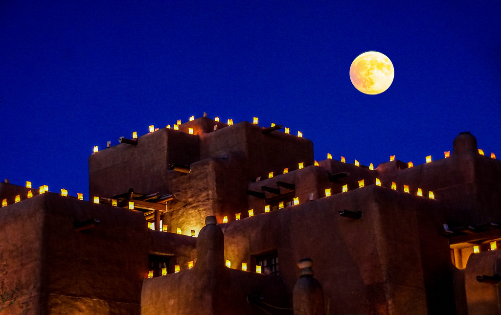 """Moon Over Santa Fe,"" Digital Realism, Mia Mestdagh"