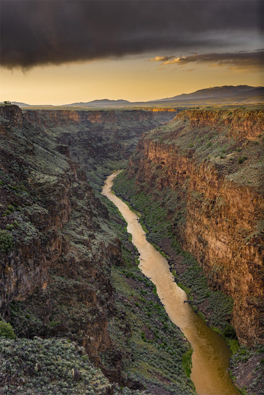 "Award, Digital Realism, ""Rio Grande Gorge Sunset,"" Cary Wolfson"
