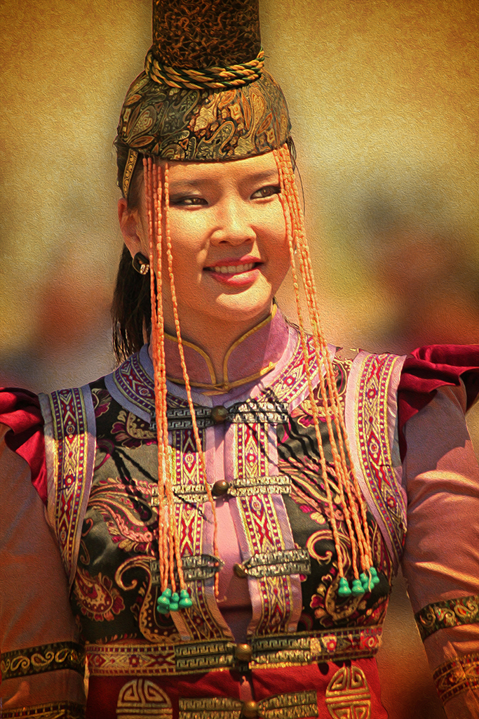 "Award, Print Realism, ""Mongolian Princess,"" Vandy Vandervort"