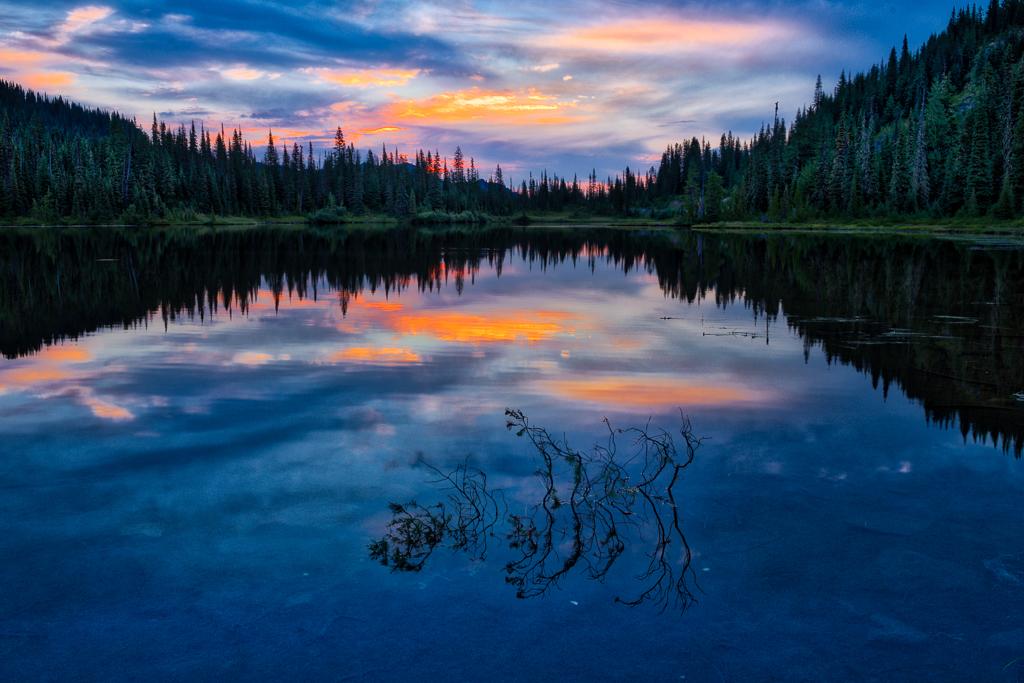 "Award, Digital Realism, ""Mount Rainier Reflection,"" Ilene Meyers"