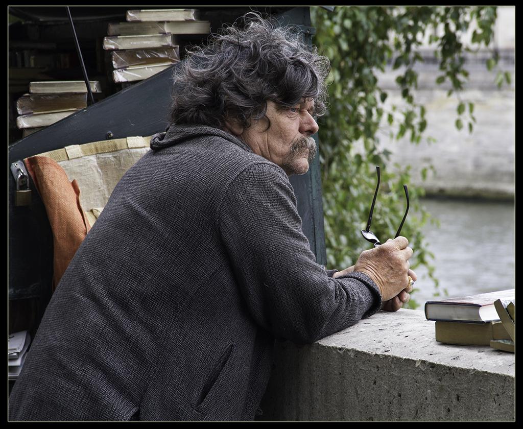 "Award, Digital Realism, ""Paris Bookseller,"" John Kieffer"