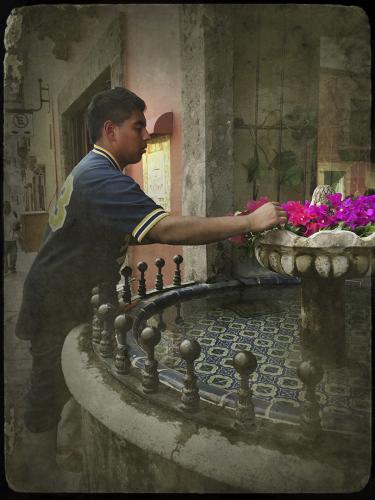 Mexican Boy at Fountain